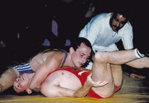 Andrzej Głąb podczas jednej z walk na igrzyskach w Seulu w 1988 roku