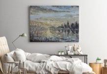 obraz impresjonistyczny w sypialni