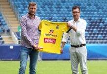 Grzegorz Bonin, najnowszy nabytek Motoru i Leszek Bartnicki, prezes lubelskiego klubu