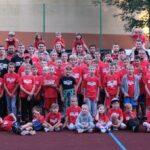 Oczywiście nie mogło zabraknąć wspólnego zdjęcia uczestników treningu z zawodnikami i trenerami Pszczółki Start Lublin